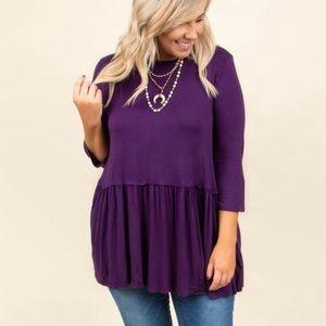 Chicsoul purple blouse